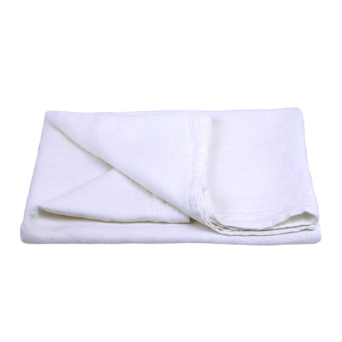 Linen Bath Towel - Stonewashed - White - Thick Linen