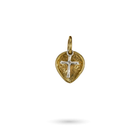 Lotus Cross Charm