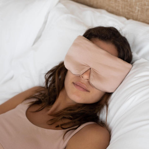 Washable Silk Sleep Mask in Bare