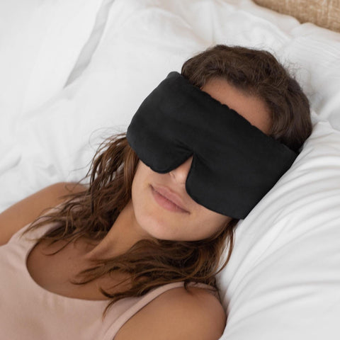 Washable Silk Sleep Mask in Black