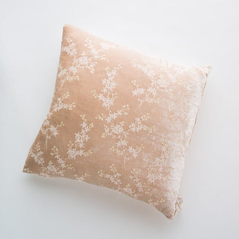 Lynette Square Throw Pillow - Pearl