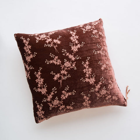 Lynette Square Throw Pillow - Rosegold