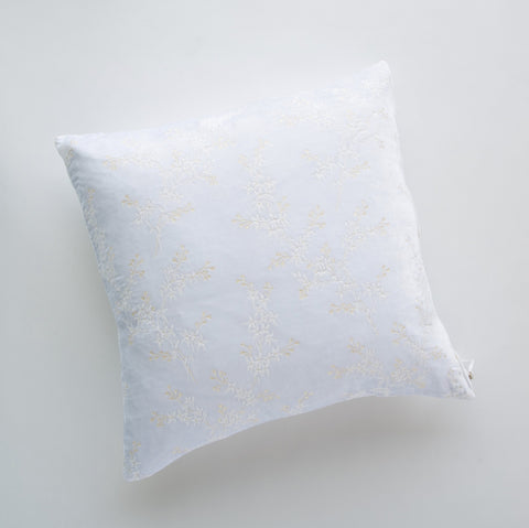 Lynette Square Throw Pillow - White