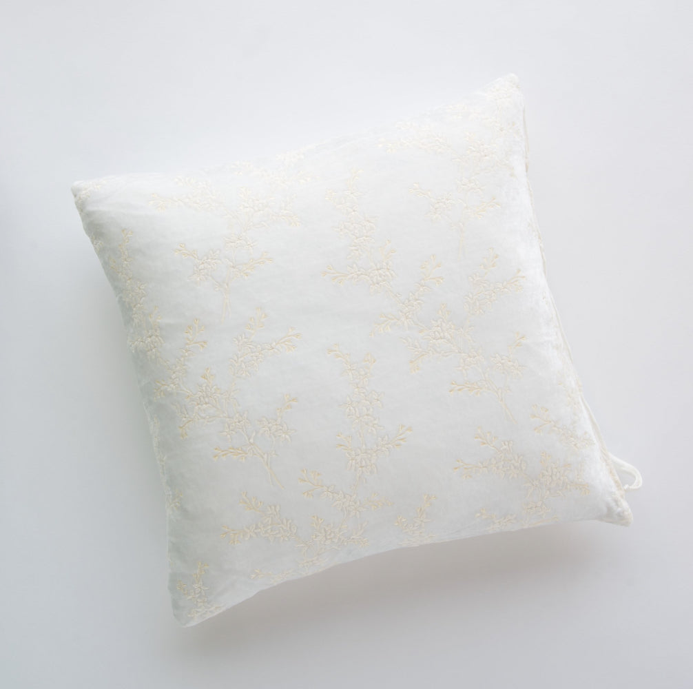 Lynette Square Throw Pillow - Winter White