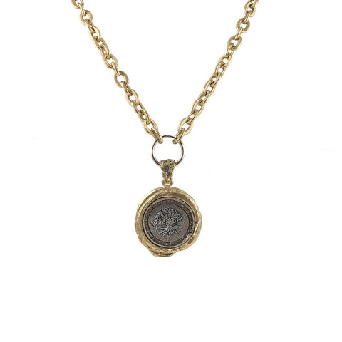 Gold Gunna Wax Seal Necklace