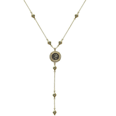Gold Marquis Labradorite VS Cornelia Y Necklace