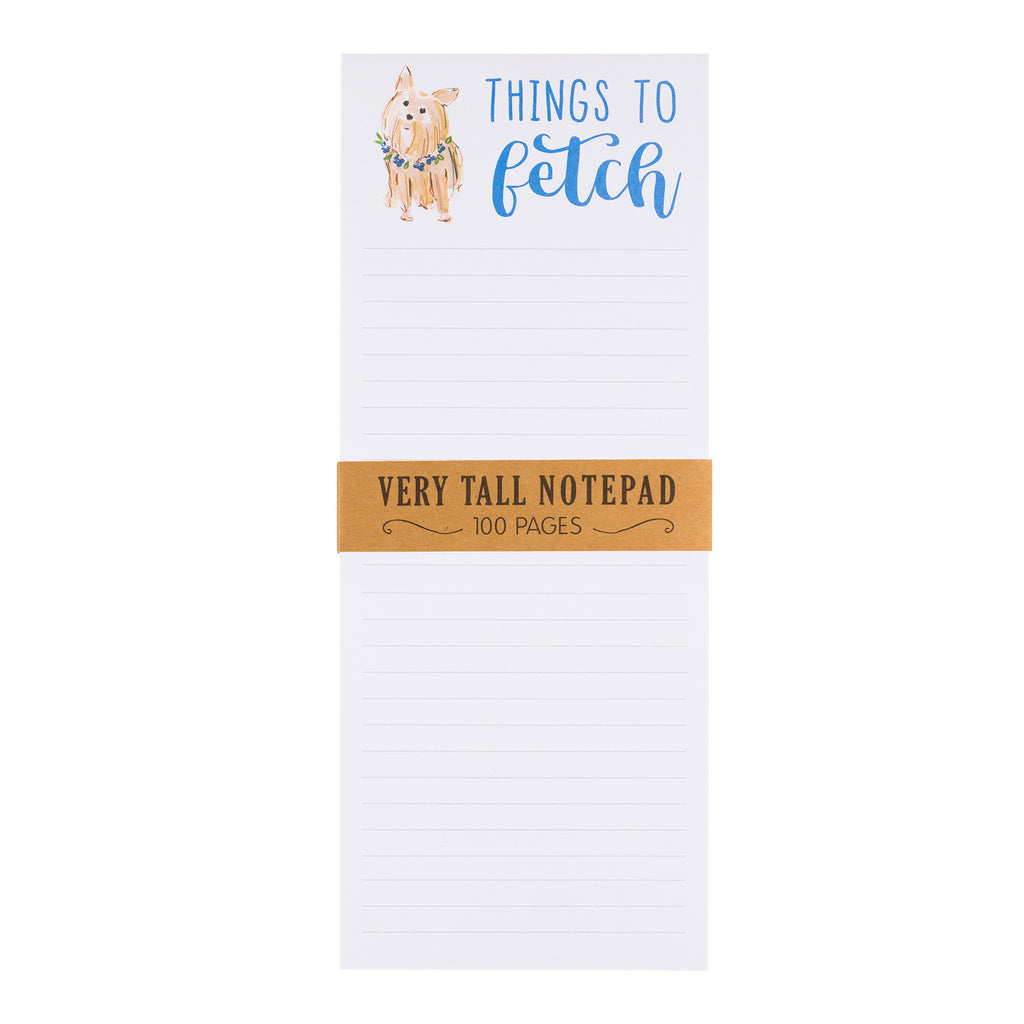 Very Tall Magnet Notepad - Things to Fetch