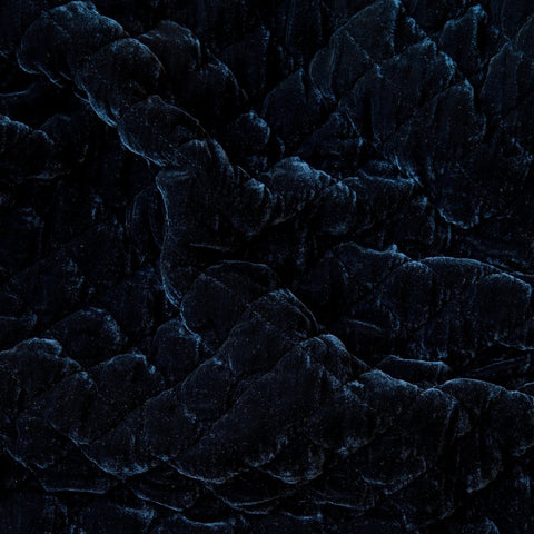 Silk Velvet Quilted Coverlet - Midnight - King
