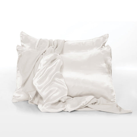 Satin Pillowcases in Pearl