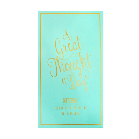 A Great Thought A Day Pad - Seafoam