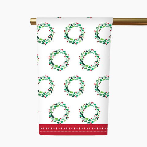 50 States Christmas Wreath Tea Towel