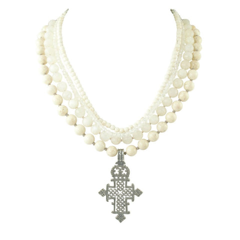 Ethiopian Cross Medallion Necklace