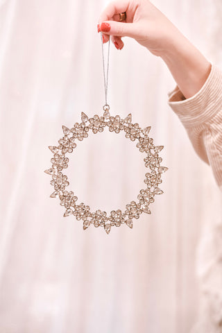 Rhinestone Wreath Ornament