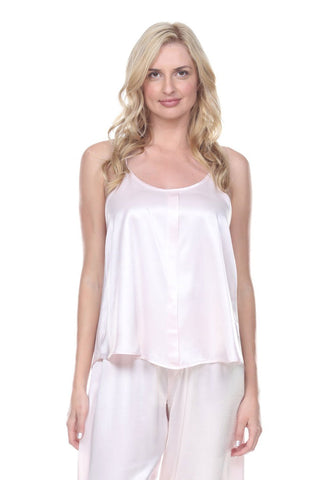 Babe Satin Cami with Pleated Front