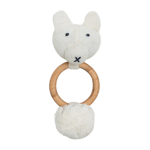 Organic Cotton Bear Rattle