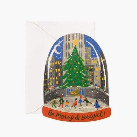 Skating in the City Christmas Cards - Boxed Set of 8