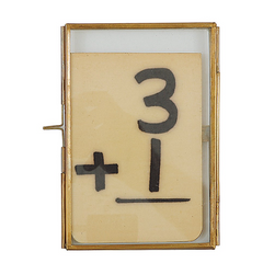 Brass & Glass Photo Frame - 4 x 6