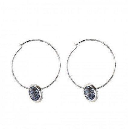 Kristal Satellite Hoop Earrings