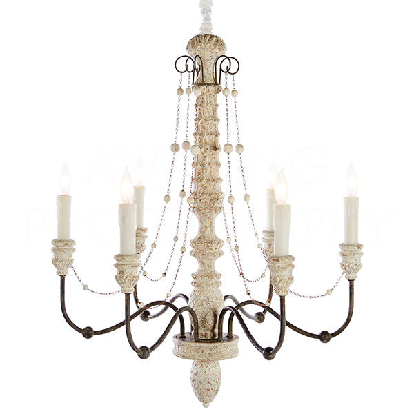 Lena Chandelier - Small - White