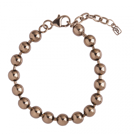 Chocolate Gold Curator Ball Bracelet