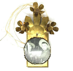Foto Frame Ornament w/ 3 Flowers