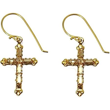 Madonna Cross Earrings