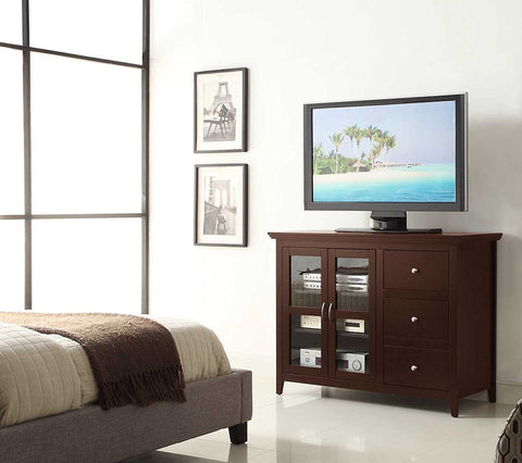 Sierra Highboy TV Wood Stand up to 50