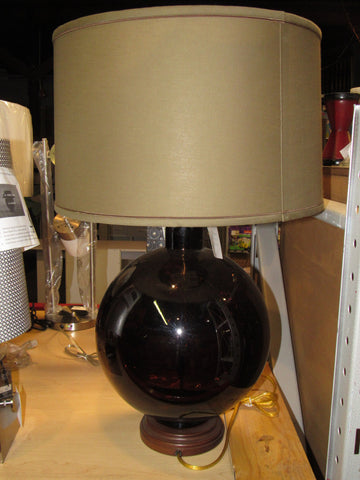 Lamp Works Mocha Recycled Glass Table Lamp