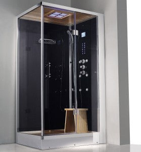 Signature Hardware Deluxe Wellness Steam Shower Cabin WS107 RT 35.5