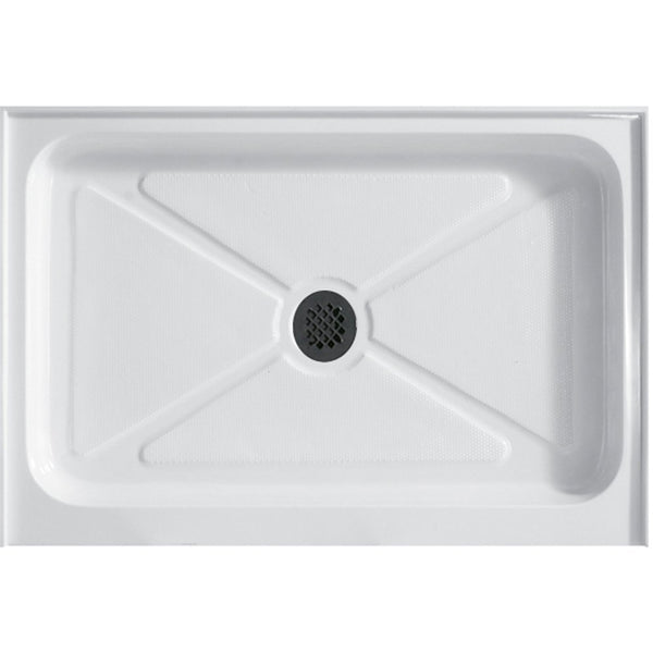 Rectangular Shower Base, White ...