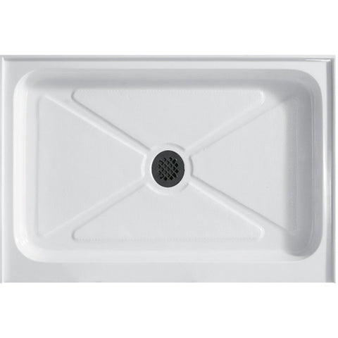 VIGO 48 x 32-in. Rectangular Shower Base, White