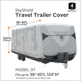 "Classic Accessories SkyShield Heavy-Duty RV Travel Trailer Cover, For 38-40' L, 124"" Max H"