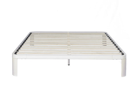 In Style Furnishings Lunar Platform Bed, Twin, White