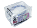 "8"" x 6"" x 5"" Heavy Duty Vinyl Zippered See-Through Storage Bags (Clear) for Jewelry, Shirts, Cosmetics, Arts & Crafts Supplies and Much More! 1 G"