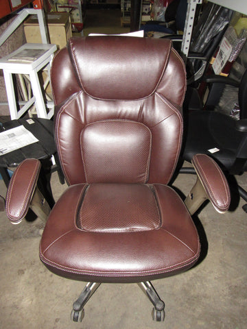 Serta Back In Motion Health And Wellness Mid Back Office Chair, Frye  Chocolate ...
