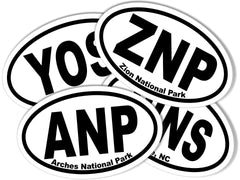 State and National Park Oval Stickers