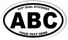 3x5 Inch Oval Sticker Template