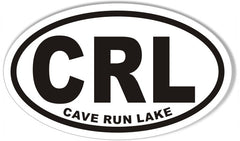 Cave Run Lake CRL Oval Bumper Sticker