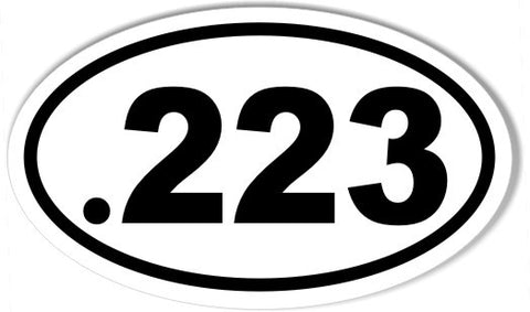 .223 Oval Bumper Stickers