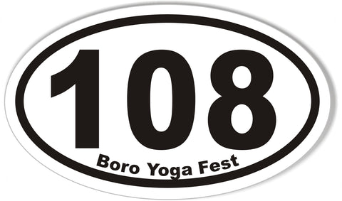 108 Boro Yoga Fest Oval Bumper Stickers