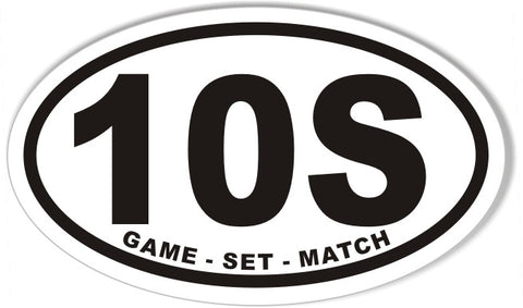 10S Tennis Euro Oval Bumper Sticker