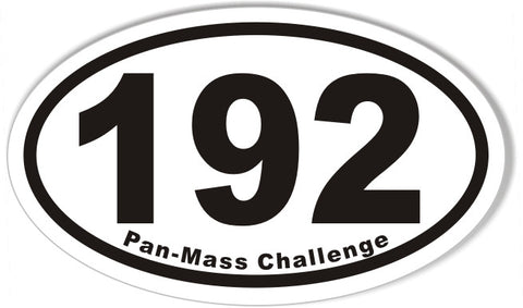 192 Pan-Mass Challenge Oval Sticker