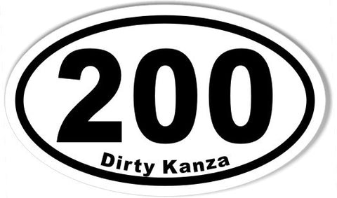 200 Dirty Kanza Custom Oval Bumper Stickers
