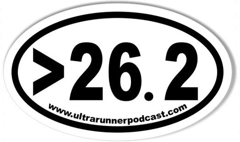 >26.2 www.ultrarunnerpodcast.com Oval Sticker 3x5