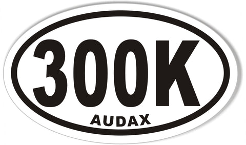 300K AUDAX Oval Sticker