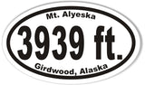 3939 Custom Oval Bumper Stickers