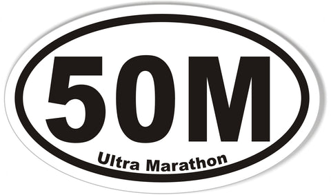 50M Ultra Marathon Oval Sticker