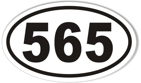 565 Custom Oval Bumper Stickers