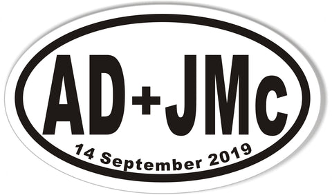 AD+JMc Oval Bumper Stickers