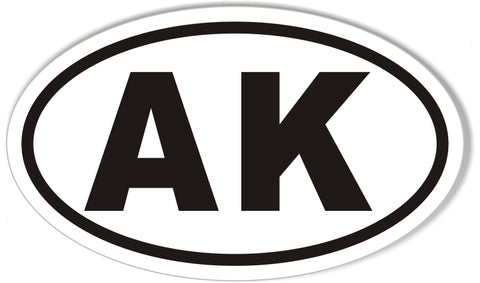 AK Alaska Euro Oval Sticker